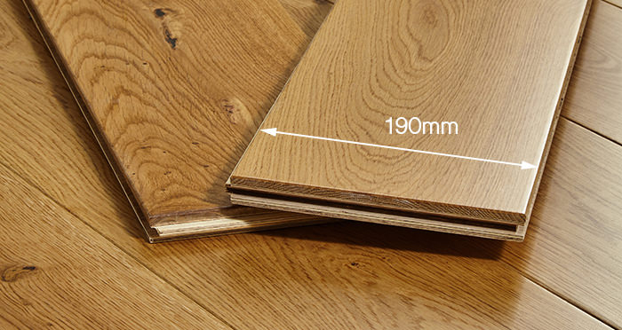 Farmhouse Natural Oak Lacquered Engineered Wood Flooring - Descriptive 3