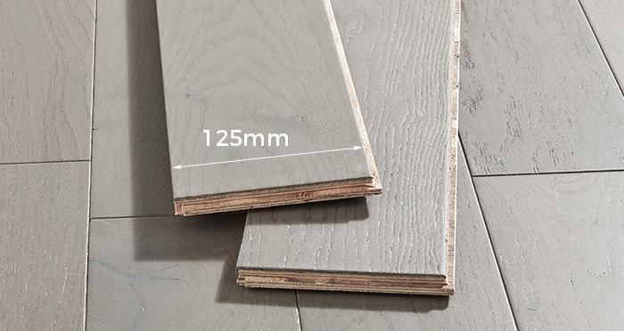 Studio Slate Grey Brushed & Lacquered Engineered Wood Flooring - Descriptive 3