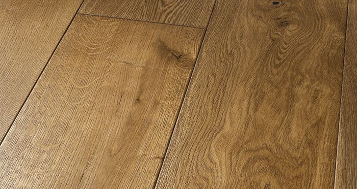 Grand Imperial Golden Smoked Oak Brushed & Lacquered Engineered Wood Flooring - Descriptive 1