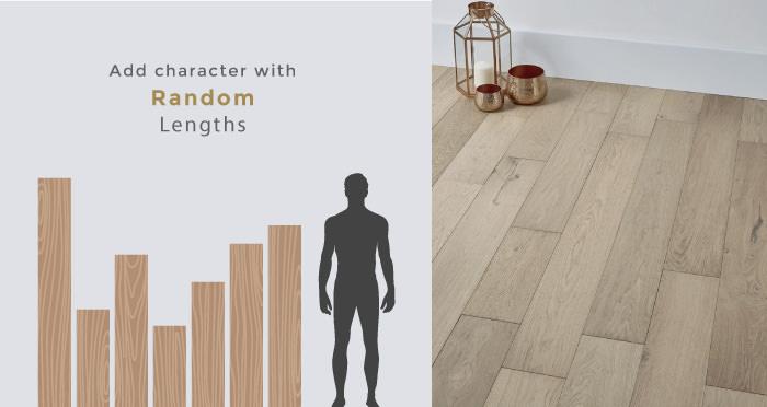 Golden Rustic Heritage Oak Brushed & Lacquered Solid Wood Flooring - Descriptive 3