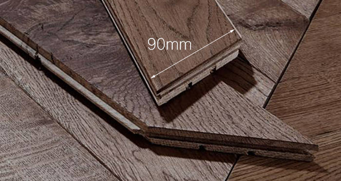 Park Avenue Chevron Chocolate Oak Brushed & Oiled Solid Wood Flooring - Descriptive 3