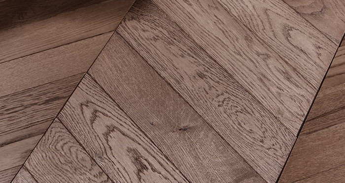 Park Avenue Chevron Chocolate Oak Brushed & Oiled Solid Wood Flooring - Descriptive 4