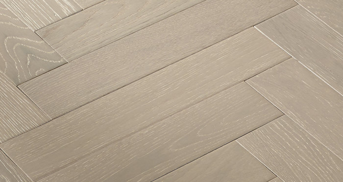 Oxford Herringbone Pearl Grey Oak Engineered Wood Flooring - Descriptive 3