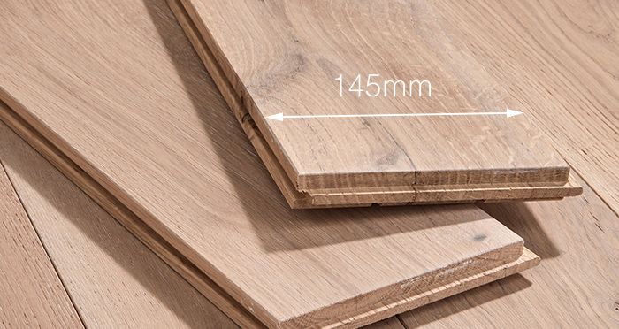 Deluxe Frosted Oak Solid Wood Flooring - Descriptive 3