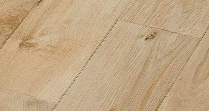 Unfinished Oak 160mm Wide Solid Wood Flooring - Descriptive 1
