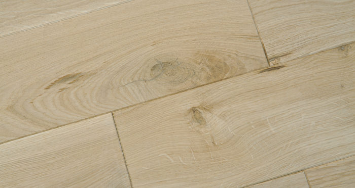 Unfinished Oak 160mm Wide Solid Wood Flooring - Descriptive 2