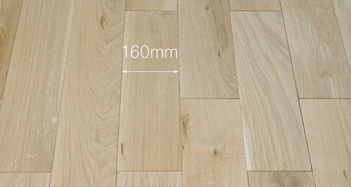 Unfinished Oak 160mm Wide Solid Wood Flooring - Descriptive 3