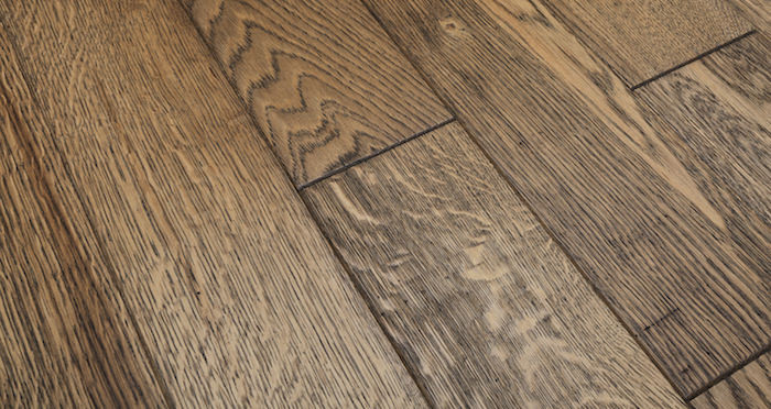 Aged & Rustic Brown Oak Brushed & Oiled Solid Wood Flooring - Descriptive 1