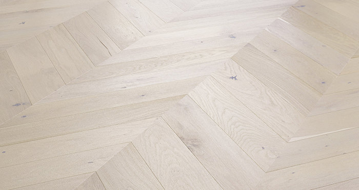 Chelsea Chevron - Cappuccino Oak Brushed & Lacquered Engineered Wood Flooring - Descriptive 2