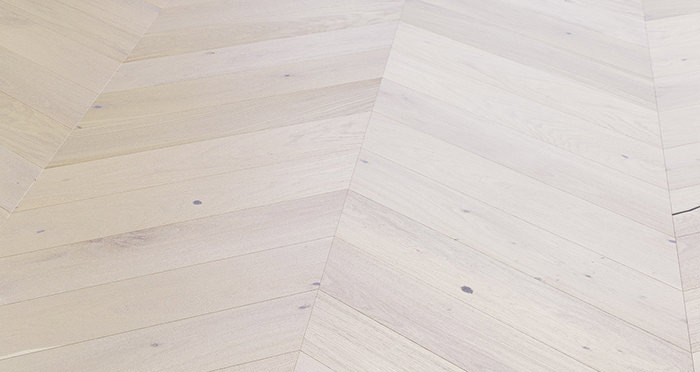 Chelsea Chevron - Cappuccino Oak Brushed & Lacquered Engineered Wood Flooring - Descriptive 4