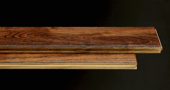 Deluxe Caramelised Teak Lacquered Solid Wood Flooring - Descriptive 1