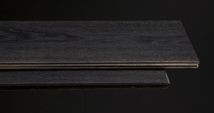 Midnight Old French Oak Super Matt Lacquered Engineered Wood Flooring - Descriptive 1