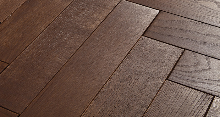 Park Avenue Herringbone Chocolate Oak Solid Wood Flooring - Descriptive 1