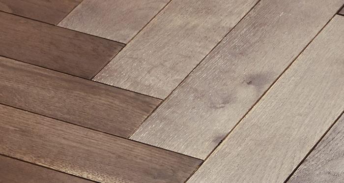Park Avenue Herringbone Chocolate Oak Solid Wood Flooring - Descriptive 2