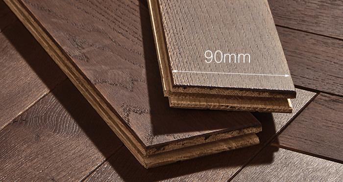 Park Avenue Herringbone Chocolate Oak Solid Wood Flooring - Descriptive 3