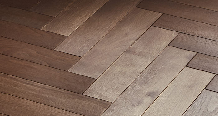 Park Avenue Herringbone Chocolate Oak Solid Wood Flooring - Descriptive 5