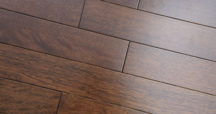 Pacific Mahogany Antique Lacquered Solid Wood Flooring - Descriptive 2