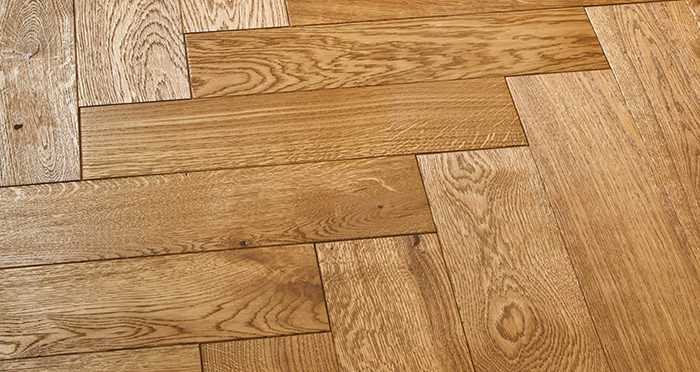 Luxury Parquet Golden Oiled Oak Solid Wood Flooring - Descriptive 2