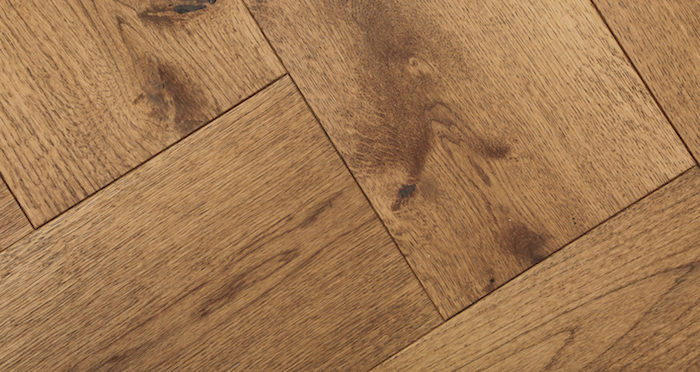 Prestige Herringbone Cinnamon Oak Oiled Engineered Wood Flooring - Descriptive 2