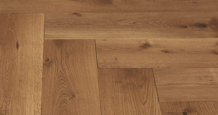 Prestige Herringbone Cinnamon Oak Oiled Engineered Wood Flooring - Descriptive 4