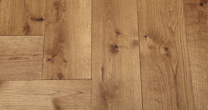 Prestige Herringbone Cinnamon Oak Oiled Engineered Wood Flooring - Descriptive 5