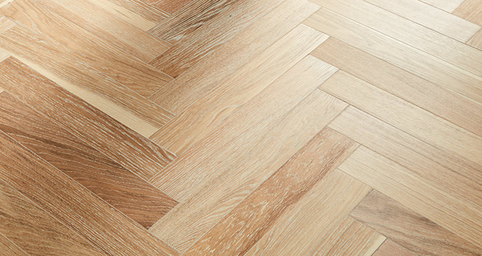Branscombe Whitewashed Harbour Herringbone Oak Engineered Wood Flooring - Descriptive 1