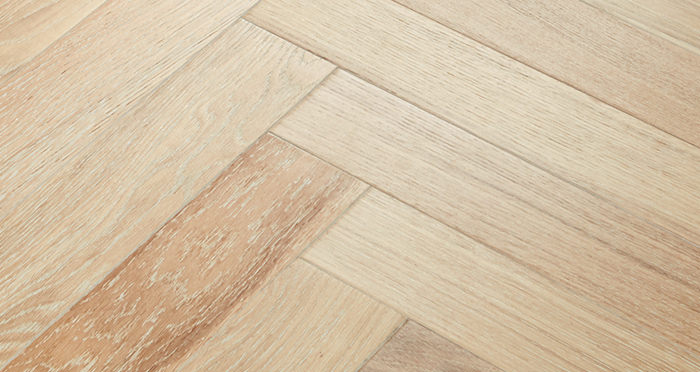 Branscombe Whitewashed Harbour Herringbone Oak Engineered Wood Flooring - Descriptive 2