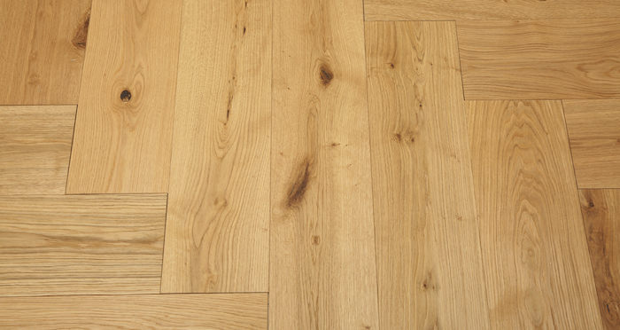 Prestige Herringbone Natural Oak Oiled Engineered Wood Flooring - Descriptive 4