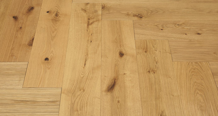 Prestige Herringbone Natural Oak Oiled Engineered Wood Flooring - Descriptive 6