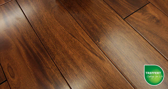 Royal Mahogany Lacquered Solid Wood Flooring - Descriptive 2