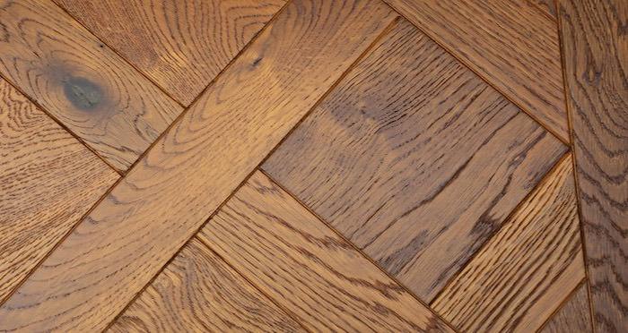 Montpellier Golden Smoked Oak Brushed & Oiled Versailles Tile Engineered Wood Flooring - Descriptive 3