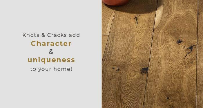 Farmhouse Antique Golden Oak Brushed & Oiled Engineered Wood Flooring - Descriptive 2