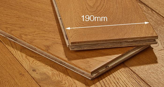 Farmhouse Antique Golden Oak Brushed & Oiled Engineered Wood Flooring - Descriptive 3