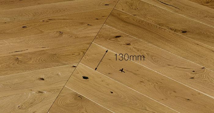 Chelsea Chevron - Golden Oak Brushed & Lacquered Engineered Wood Flooring - Descriptive 3