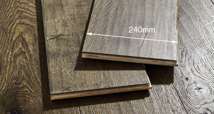 Smoked Old French Oak 240mm Lacquered Engineered Wood Flooring - Descriptive 5