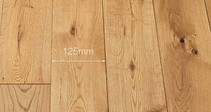 Natural Brushed & Oiled Oak Solid Wood Flooring - Descriptive 3