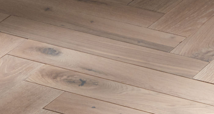 Park Avenue Herringbone Frosted Oak Solid Wood Flooring - Descriptive 2