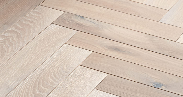 Park Avenue Herringbone Frosted Oak Solid Wood Flooring - Descriptive 5