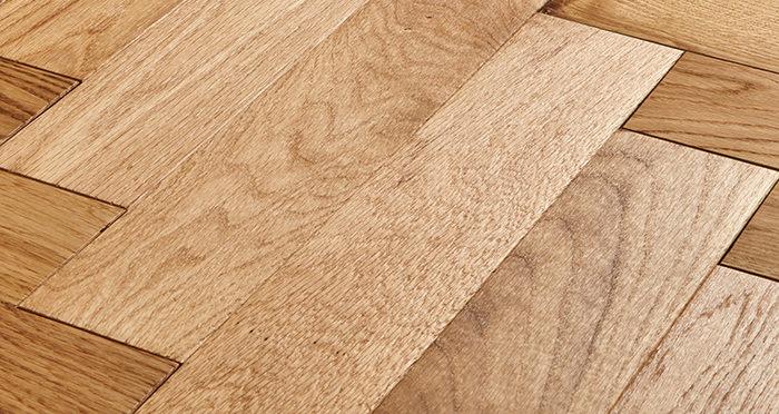 Trade Select Natural Oiled Herringbone Parquet Oak Solid Wood Flooring - Descriptive 1