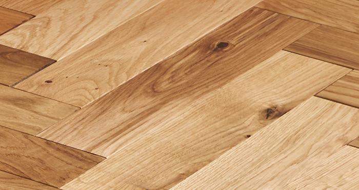 Trade Select Natural Oiled Herringbone Parquet Oak Solid Wood Flooring - Descriptive 2