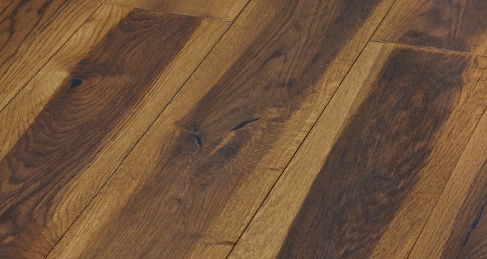 Hand Stained Old French Oak Engineered Wood Flooring - Descriptive 3