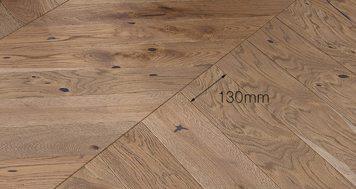 Chelsea Chevron - Urban Oak Brushed & Lacquered Engineered Wood Flooring - Descriptive 3