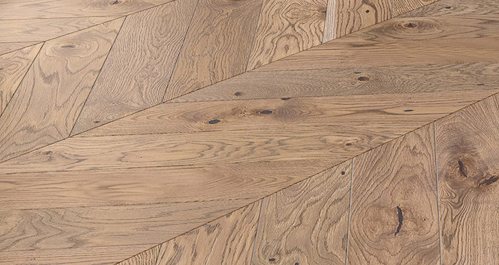 Chelsea Chevron - Urban Oak Brushed & Lacquered Engineered Wood Flooring - Descriptive 4
