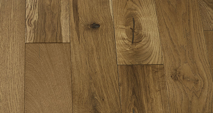 Loft Golden Smoked Oak Brushed & Lacquered Engineered Wood Flooring - Descriptive 6