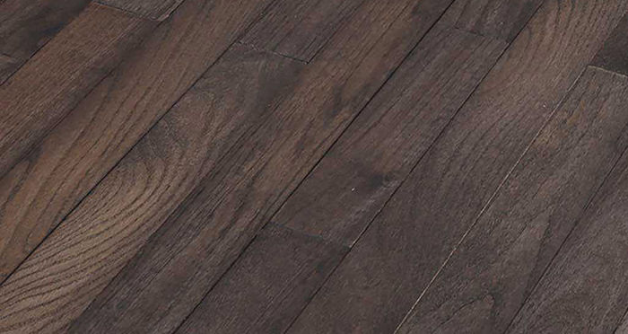 Classic Oak Espresso Brushed & Oiled Solid Wood Flooring - Descriptive 1