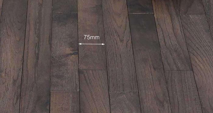 Classic Oak Espresso Brushed & Oiled Solid Wood Flooring - Descriptive 3