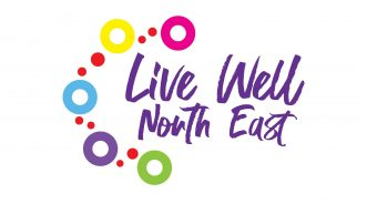 Live Well North East Logo